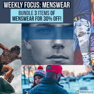 Other - Menswear FOCUS 30% off.